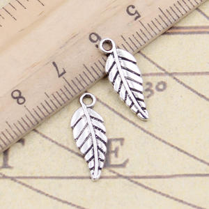 30pcs Charms Tree Leaf 20x7mm Tibetan Silver Color Pendants Antique Jewelry Making DIY Handmade Craft Pendant