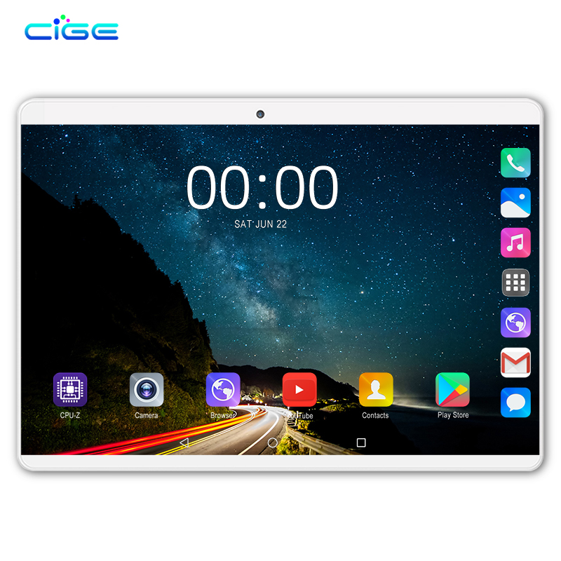 2019 New 10.1' The Tablets Android 8.0 8 Core 6GB + 64GB ROM Dual Camera 5MP SIM Tablet PC Wifi Micro Usb GPS Bluetooth Phone