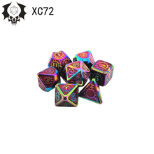 Trpg-Game Dice-Set Metal Entertainment 17-Color of Zinc-Alloy Multi-Sided