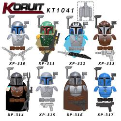Pojedynczy sprzedam gwiezdne wojny zestaw Mandalorian z dzieckiem wojskowe klocki starwars dla dzieci KT1041