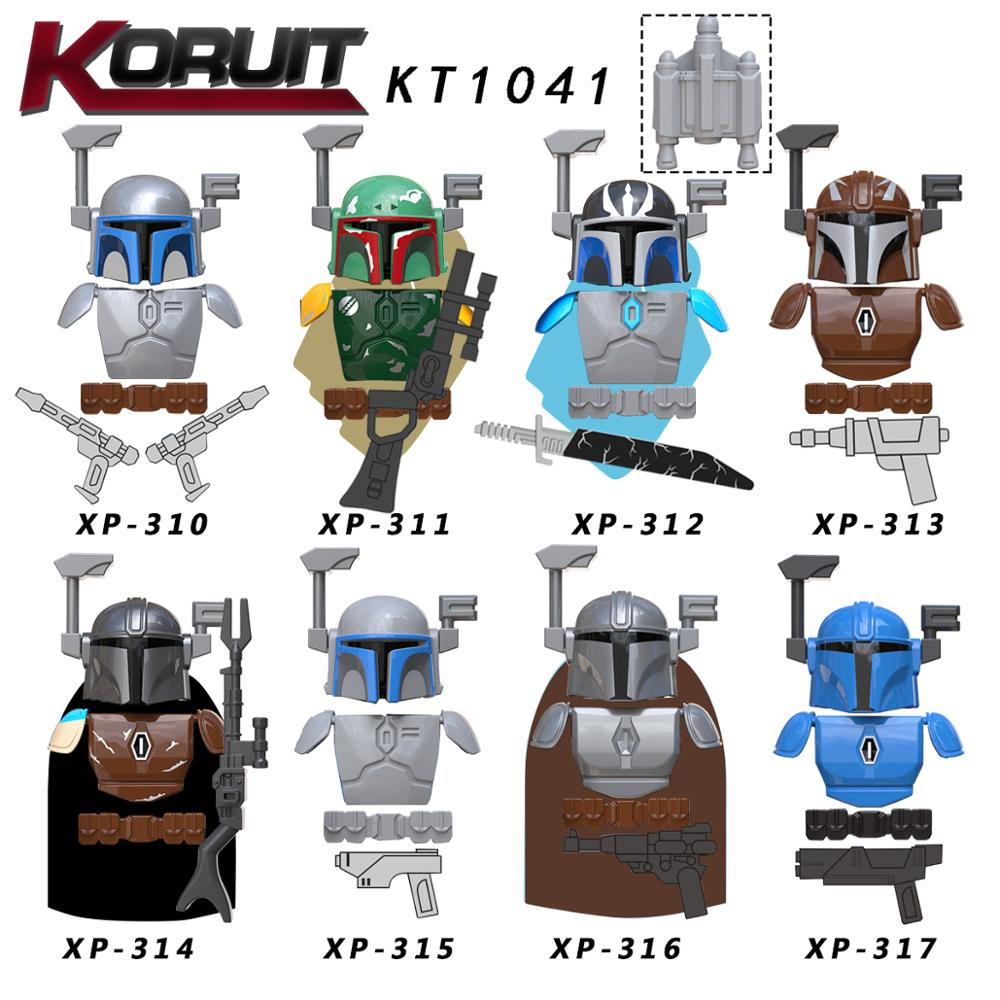 Single  Sell Star Wars Set  Mandalorian With  Baby Military      Starwars Building Blocks Toys For Kids  KT1041