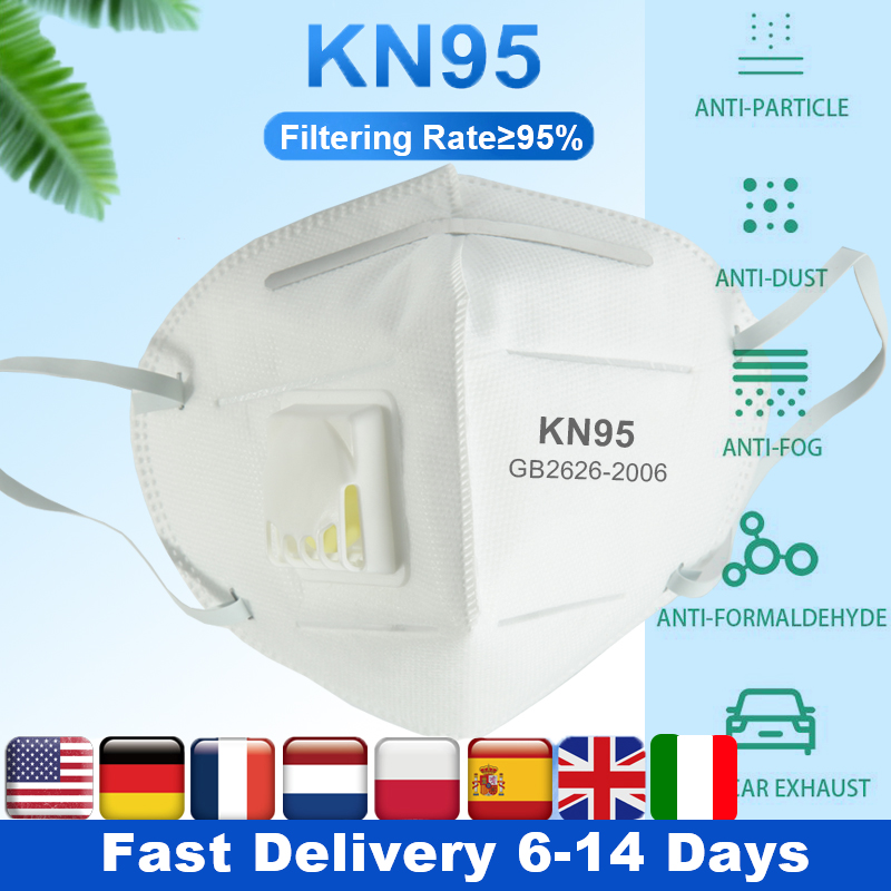 Kn95 Mask Respirator Mouth Mask Ffp3 Particulate Respirator N95 Mask Face N95 Protective Masks 5 Layer Filters Anti Dust Masks