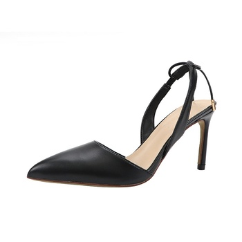 2019 verano nuevo arco damas sandalias de tacón alto chica francesa estilete...