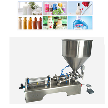 Pneumatic Paste Filling Machine Single Head Liquid Quantitative Fully Automatic Cosmetic Cream Packing