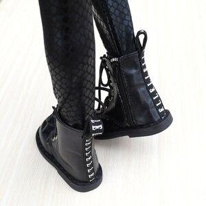 """Image 3 - Zapatos de BJD para hombre, botas negras, para 1/3 Flates, 24 """"de altura, muñeca BJD SD DK DZ AOD DD, envío gratis, hedooep"""