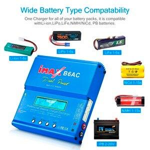 Image 2 - Prise ue/US iMAX B6AC 80W Balance chargeur Lion LiPo vie Pb NiCd et NiMH batterie déchargeur adaptateur secteur pour hélicoptère RC