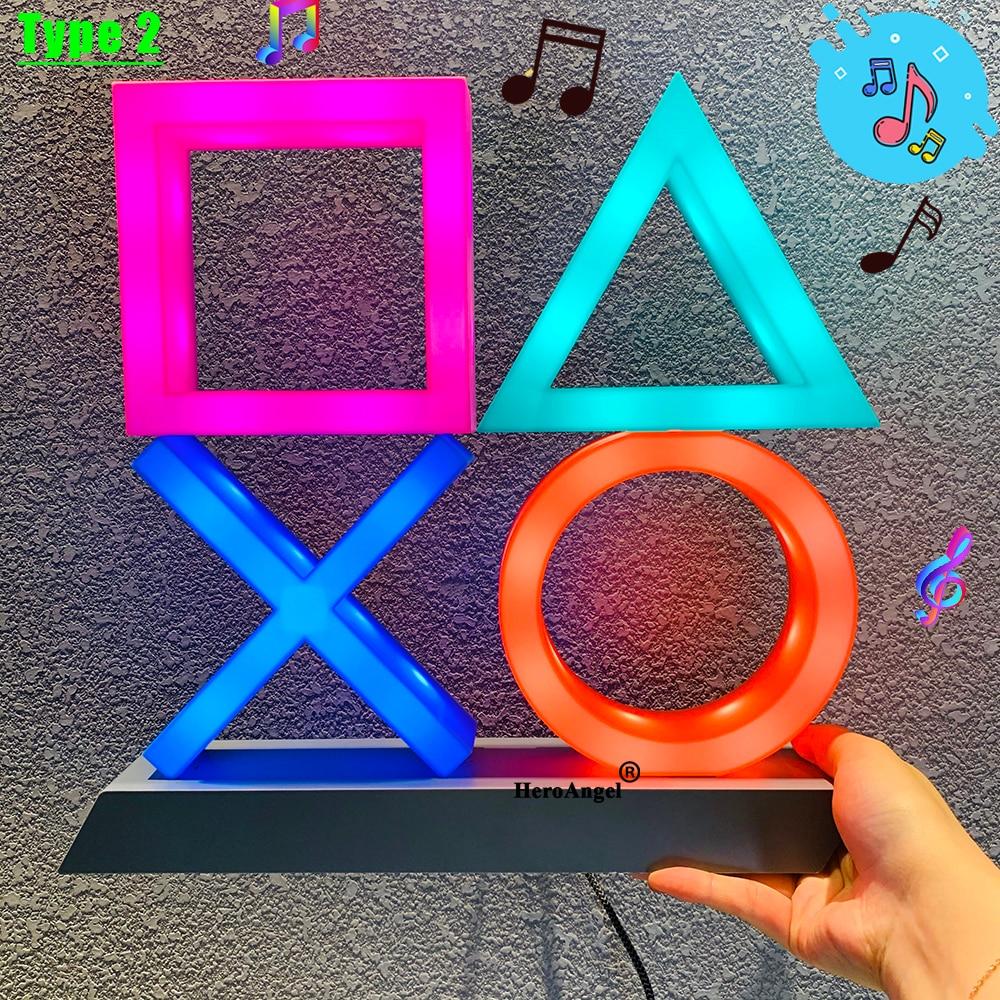Bello per PS4/PS5 mood flash lamp icon modellazione controllo vocale lampada decorativa casa luci colorate gioco lampstand led light game