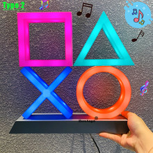 Nice For PS4/PS5 mood flash lamp icon modeling voice control decorative lamp house colorful lights game lampstand led light game