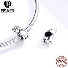 BISAER Bird Charms Collection 100% 925 Sterling Silver Little Cartoon Bird Beads for Jewelry Making Silver 925 Jewelry HSC1469 [meibapj] 925 silver 100