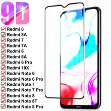 9D 9H Full Tempered Glass on the Redmi 8 8A 7 7A 6 6A K20 K30 10X Pro For Xiaomi Redmi Note 8T 8 7 6 Pro Safety Protective Glass