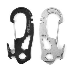 Multifunction Climbing Carabiner EDC Keychain Gear Outdoor Tools Camping HikJ0U1
