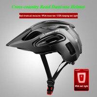 Mtb 및 도로 사이클링 헬멧 모든 지형 장비 오프로드 헬멧 롱 브림 통합 몰딩 높은 qulity 헬멧