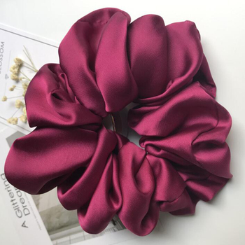 Oversized Scrunchies Big Rubber Hair Ties Elastic Hair Bands Girs Ponytail Holder Smooth Satin Scrunchie Women Hair Accessories 6