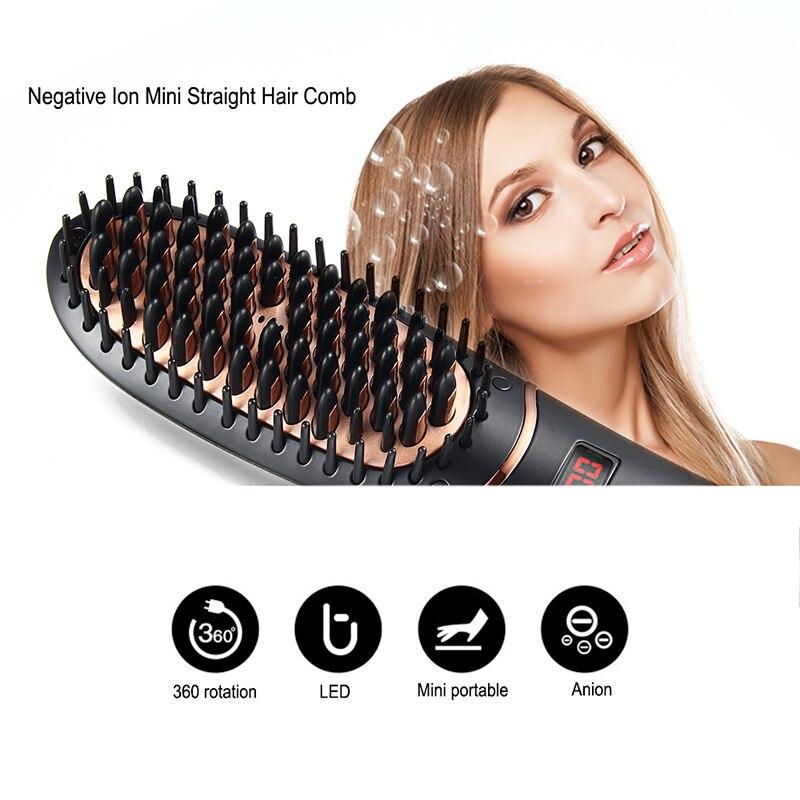elétrico masculino escova de alisamento de cabelo
