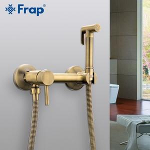Image 2 - Frap wall mount Bidet Faucets Brass Bathroom shower tap bidet toilet sprayer washer tap mixers muslim shower ducha higienica