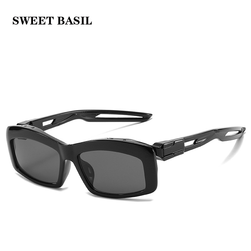 SWEET BASIL 2020 Hollow Out Square Sunglasses Men Luxury Brand Small Sun Glasses Women Vintage Retro Black Frame Goggle Eyewear