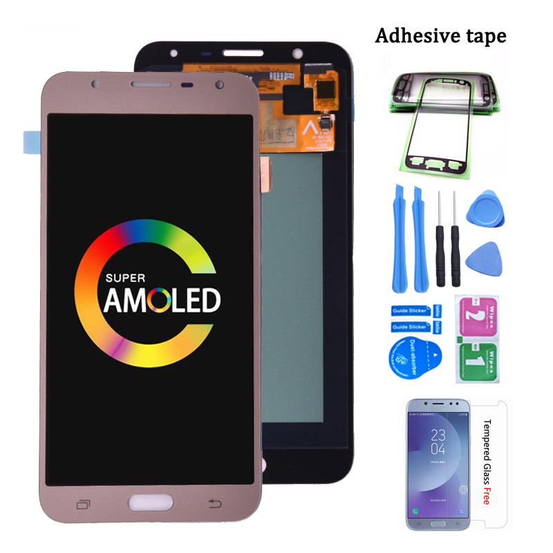 Original Super Amoled For Samsung Galaxy J701 J701F J701M LCD Display Screen Touch Digitizer Assembly For J701 J7 Neo J7 Core
