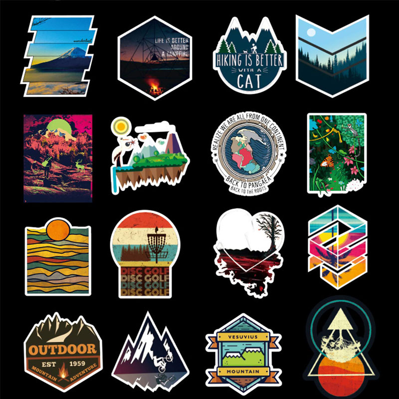 100pcs Starry Sky Landscape Scenery Stickers for Laptop Motorcycle Bicycle Skateboard Luggage Decal Graffiti Patches Stickers in Stickers from Toys Hobbies