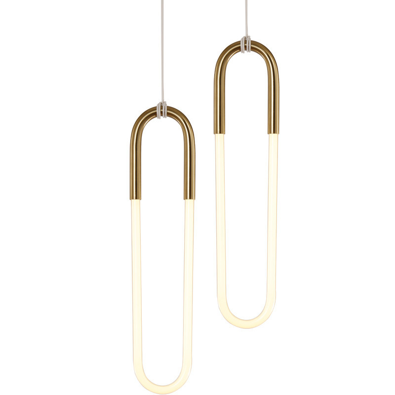 Lyustra Lampa Modern Simple Pendant Light Art Scene LED Light Tube Warm White 3000K Pure White Hanging Lamp