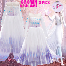 Elsa 2 Dress Girls Set Princess Cinderella Easter Kids Dresses For Cosplay Costume Anna Snow White Carnival Party Clothing