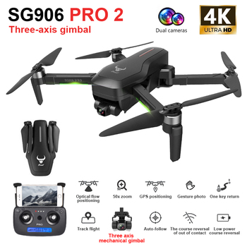 ZLRC SG906 Pro 2 RC Drone with 4K Camera GPS 5G WIFI 3-axis Gimbal Drone Quadcopter Professional 50X Zoom Brushless Drones Toys 3 axis lightweight 1080p hd 10x zoom drone aerial camera uav gimbal camera