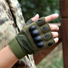 Outdoor Riding Gloves Half Finger Bicycle 2019 Fashion Tactical Fighting Protective Mens Motorcycle