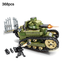 368pcs Army series Renault FT-17 Tank legoingly Military World War I Minifigs Figures Building Blocks Toys For Children Gift