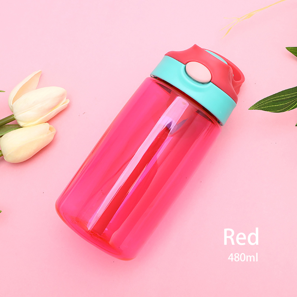 Handle Feeding Home With Straw Drinkware Baby Water Bottle Lightweight Container Children Cup Leak Proof Travel School Portable