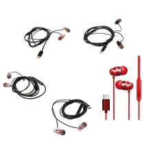 Type-C Earphones, In-Ear Magnetic Earbuds with Mic, Stereo Bass Noise Cancelling headset, Bass metal Sports Headsets gv3 in ear earbuds wired noise cancelling sport headsets hifi metal earphones stereo bass headphone with microphone for xiaomi