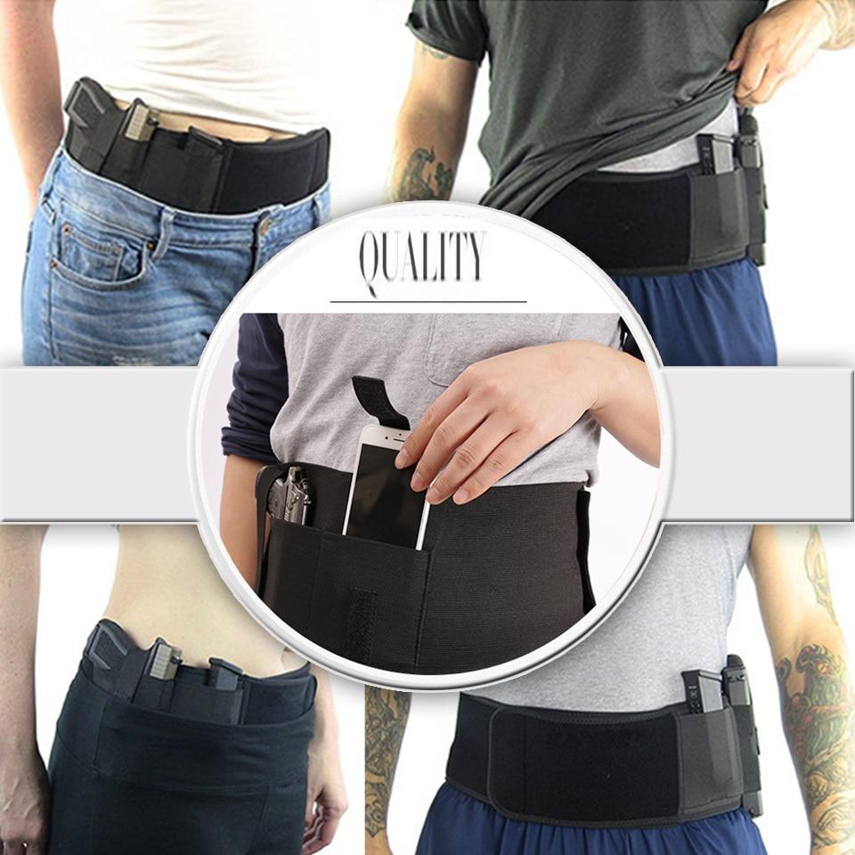 Tactical Belt Pistol Holster Adjustable Concealed Carry Gun Holster Hunt Pouch