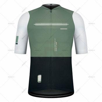 Hiszpania 2021 odzież rowerowa MTB odzież rowerowa rower jednolita koszula rowerowa z krótkim rękawem wyścigi kolarstwo Jersey ropa ciclismo hombre tanie i dobre opinie honu fast IT (pochodzenie) POLIESTER Stretch Spandex SHORT men cycling jersey set Wiosna summer AUTUMN Koszulki Zamek na całej długości