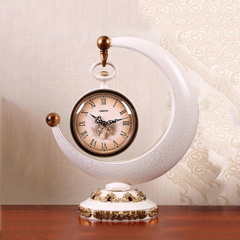1 pièces horloge créative européenne salon hôtel bureau bureau horloge décorations pour la maison horloge Quartz silencieuse cadran numérique romain - 3