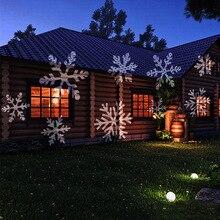 12 узоров Ландшафтный проектор светодиодный Рождественский садовый сценический вечерние светильник Рождественский проекционный светильник TSH магазин