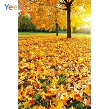 Yeele Photography Autumn Backdrop Forest Yellow Leaves Baby Shower Children Background For Photo Studio Photocall Photophone allenjoy photography backdrop leaves wall green nature baby shower children background photo studio photocall