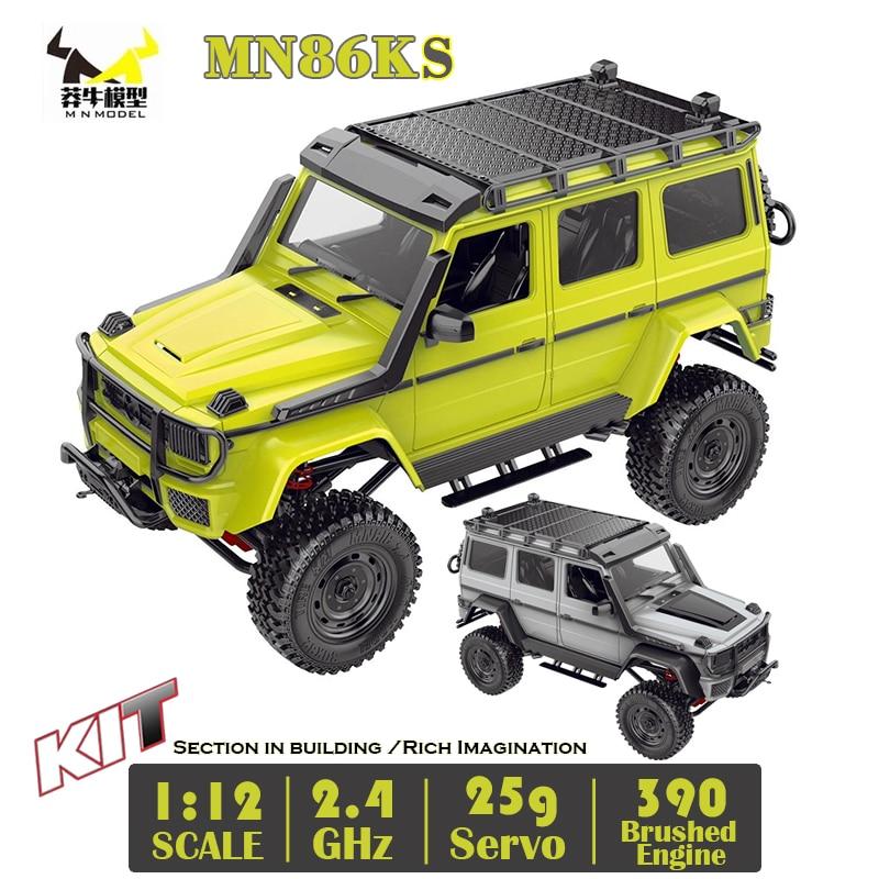 G500 MN86KS 1/12 MN автомобильный комплект 2,4G 4WD 230 мм Колесная база гусеничный внедорожник 390 щеточный двигатель WPL MN Радиоуправляемый автомобиль 1:12...