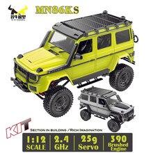 G500 mn86ks 1/12 mn carro kit 2.4g 4wd 230mm esteira rolante fora da estrada 390 escovado caminhão do motor wpl mn rc carro 1:12 desmontado diy