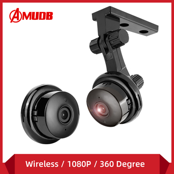 AMUDB Wireless 1080P HD IP Camera Two Way Audio Night Vision Baby Monitor 360 Degree Panoramic Home Security WIFI Camera P2P 1080p 360 degree fisheye security ip camera wireless panoramic ptz ir cut night vision two way audio cctv cameras