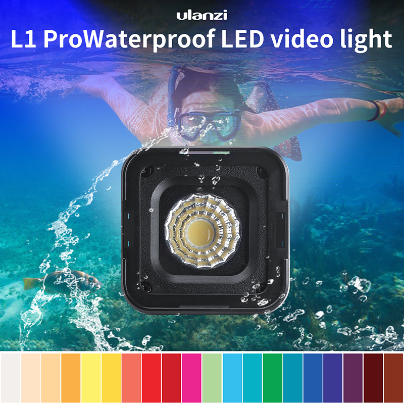 Ulanzi L1 Pro Waterproof Dimmable Mini LED Light for Gopro DSLR Dji Gimbal Versatile Mini Light Camping Cycling Lighting
