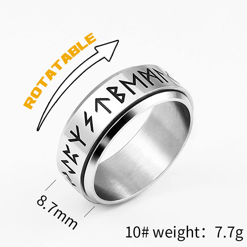 Beier 316l Stainless Steel Viking Rune Rotating Men S Rings Fashion Nordic Religious Symbols High Quality Jewelry Llbr R131r Rings Aliexpress
