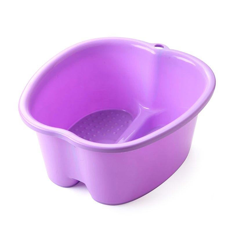 Large Foot Bath Spa Tub Basin Bucket Soak Feet Detox Pedicure Massage 3 Colors