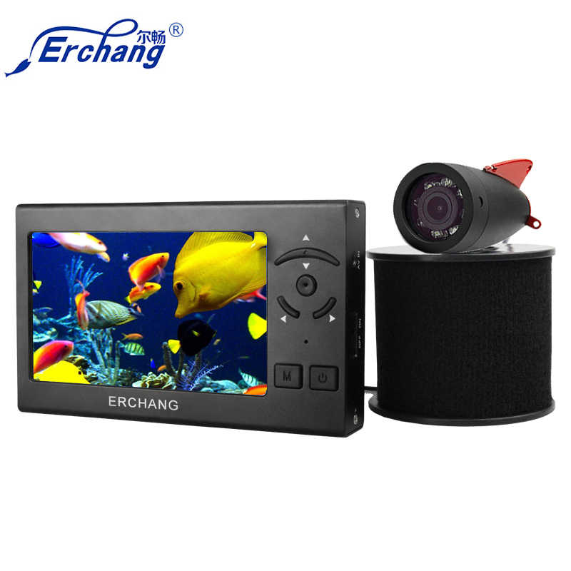 Erchang 15M Kabel Camera Fish Finder Wit Led 4.3 ''Monitor Hd 1000TVL Onderwater Camera Voor Ijsvissen In engels Russisch