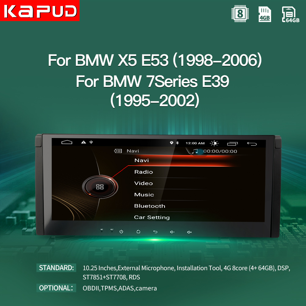 Kapud Android 10.0 Car Multimedia Player For BMW X5 E53 1998 2003 For BMW 7 Series E39 1995 2002 Navigation GPS Radio System|Car Multimedia Player|   - AliExpress