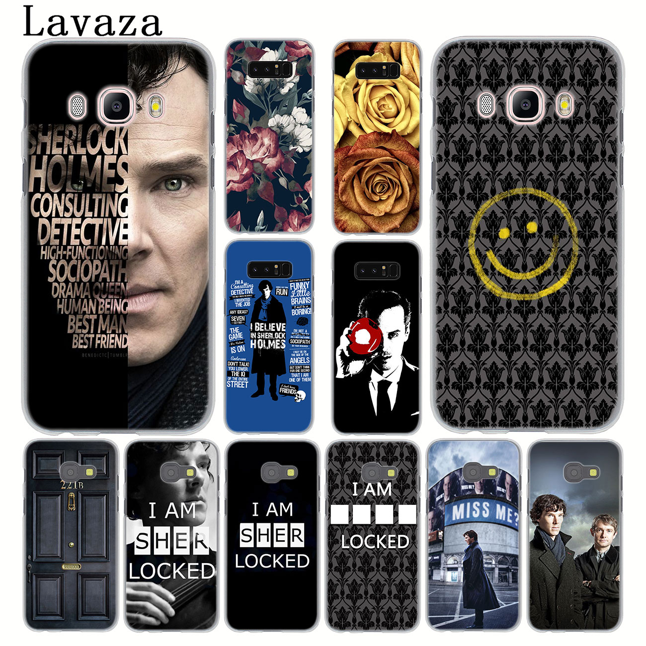 221B Sherlock Holmes <font><b>Hard</b></font> Phone <font><b>Case</b></font> for <font><b>Samsung</b></font> Galaxy Note 10 9 8 A9 A8 A7 A6 Plus 2018 A3 <font><b>A5</b></font> 2017 <font><b>2016</b></font> 2015 A2 Cover image