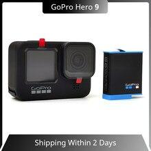 GoPro-Cámara de acción subacuática HERO 9, Color negro, 4K, 5K, con pantalla frontal a Color, cámara deportiva, fotos de 20MP, transmisión en vivo