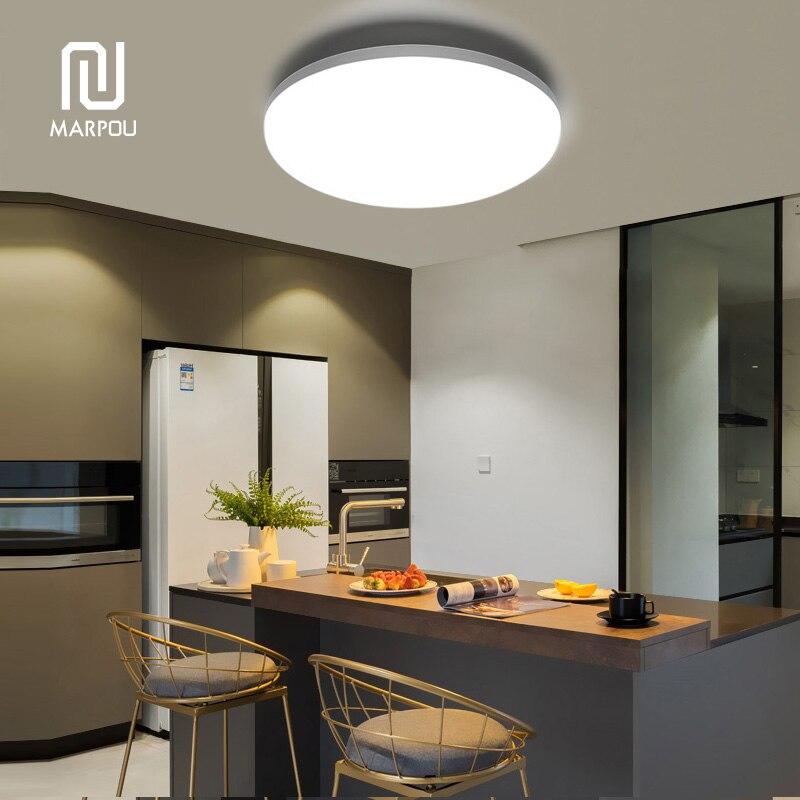 LED โคมไฟเพดานโคมไฟพื้นผิวรอบ LED โมเดิร์น 6W 9W 13W 18W 24W 36W 48W AC85-265V ลงสำหรับโคมไฟ Home