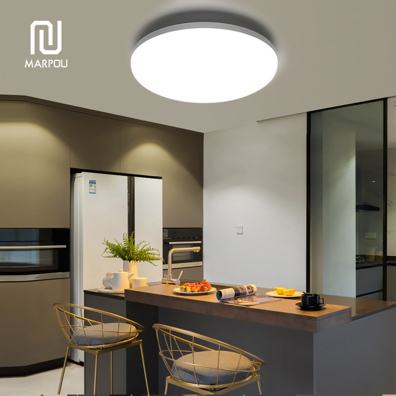 Panel de techo LED superficie de la lámpara redonda LED montado moderno 6W 9W 13W 18W 24W 36W 48W AC85-265V abajo iluminación para la lámpara de hogar