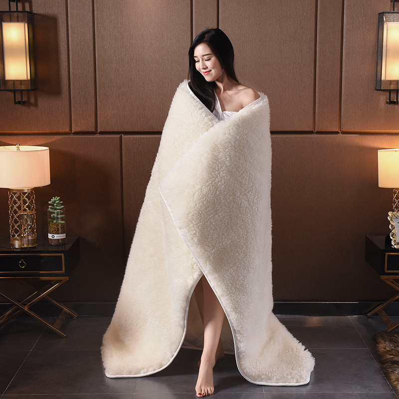 2020 New white bed fitted sheet Imitation lamb cashmere bed cushion <font><b>180*200</b></font> warm bedspread 1pc bed cotton padded matterss cover image