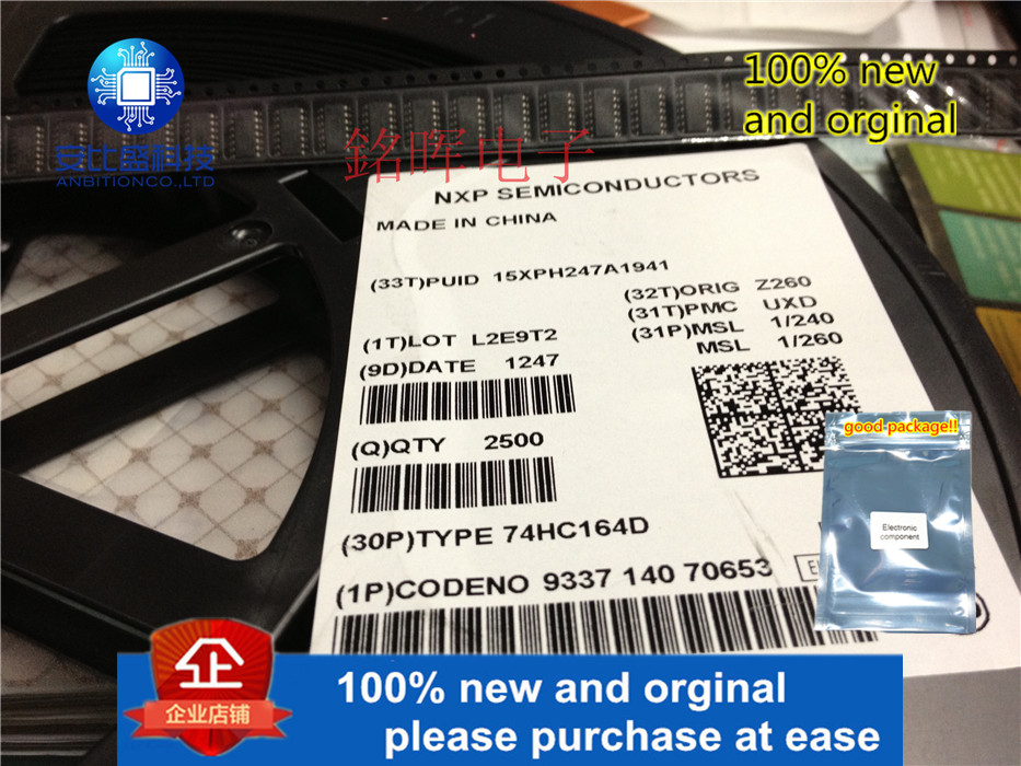 10pcs 100% New And Orginal SN74HC164DR 74HC164D SOP14 8-BIT PARALLEL-OUT SERIAL SHIFT REGISTERS In Stock