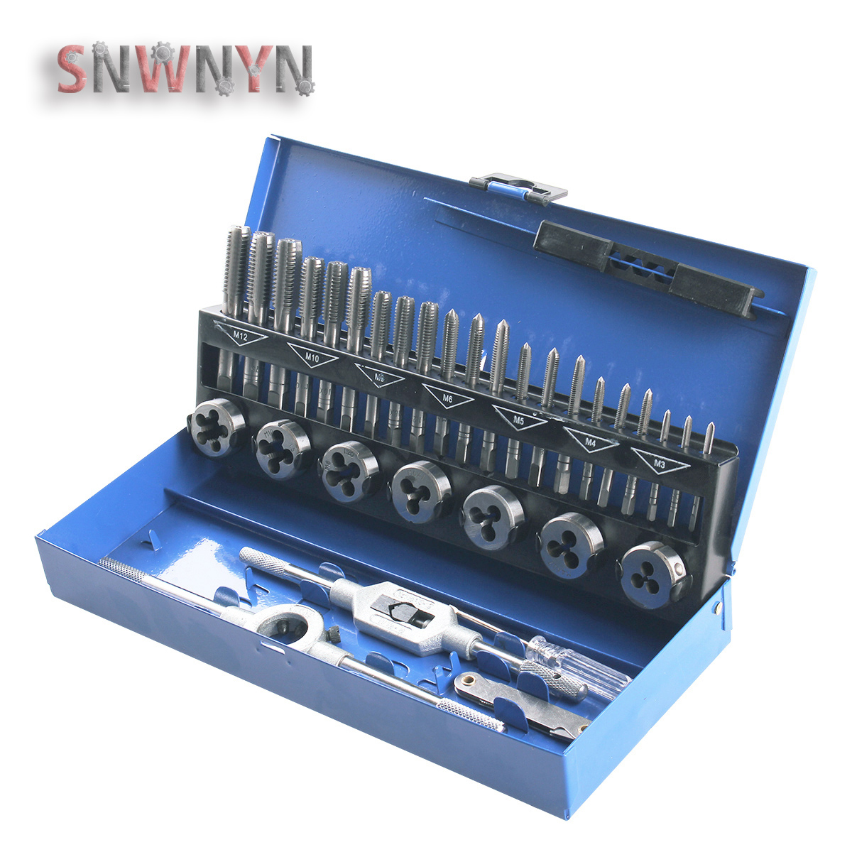 32PCS SET Metric Taps And Dies Set Thread Cutting Tool Adjustable Taps Dies Wrench Car Repair Hand Tool