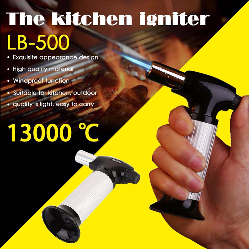 Kitchen Igniters Adjustable Lighter Device Camping BBQ Welding Flame Thrower Lighters Cooker Banking Tool Torch Without Lighter